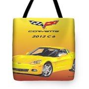 2012 C 6 Corvette Tote Bag