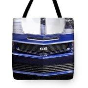2012 Camaro Blue And White Ss Camaro Tote Bag
