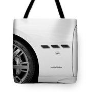 2012 Maserati Gran Turismo S B And W Tote Bag
