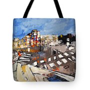 2013 015 Crosswalk Silver Orange And Blue Arlington Virginia Tote Bag