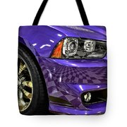 2013 Dodge Charger Headlight Tote Bag