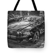 2013 Ford Shelby Mustang Gt 5.0 Convertible Bw  Tote Bag
