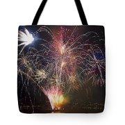 2013 Independence Day Fireworks Display On Portland Oregon Water Tote Bag