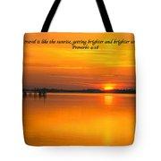 2014 02 25 03 Proverbs 4 18 Tote Bag