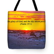 2014 03 12 02 A Psalm 19 1 Tote Bag