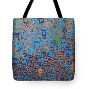 2014 20 Psalms 20 Hebrew Text Of In Blue And Other Colors On Gold  Tote Bag