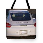 2014 Porsche Cayman White Tote Bag