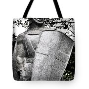20th Century Gothic Revival Knight Statue Chicago Usa Tote Bag