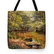 Glimpses Of The Sunby Stream Tote Bag