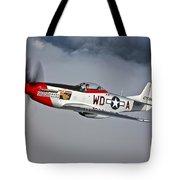 A P-51d Mustang In Flight Tote Bag