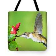 Ruby Throated Hummingbird Tote Bag