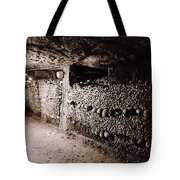 Skulls And Bones In The Catacombs Of Paris France Tote Bag