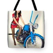Models And Motorcycles Tote Bag