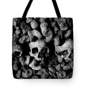 Skulls And Bones In The Catacombs Of Paris France Tote Bag
