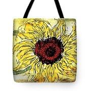 24 Kt Sunflower - Barbara Chichester Tote Bag
