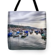 Lyme Regis Harbour Tote Bag
