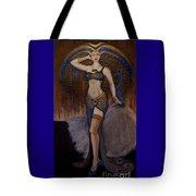 24x48 Peacock Dancer Tote Bag