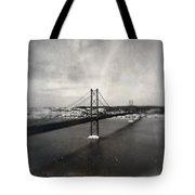 25 De Abril Bridge II Tote Bag by Marco Oliveira