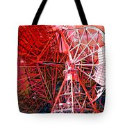 26 East Antenna Abstract 2 Tote Bag