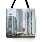 Skyscrapers At The Waterfront Tote Bag