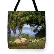 Melbourne Beach Pier In Florida Tote Bag