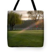 2nd Green Morning Light Tote Bag
