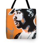 2pac In Orange Tote Bag
