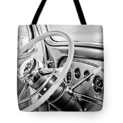 1933 Pontiac Steering Wheel -0463bw Tote Bag