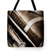 1955 Pontiac Star Chief Grille Emblem - Hood Ornament Tote Bag