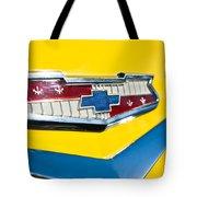 1956 Chevrolet Belair Emblem Tote Bag