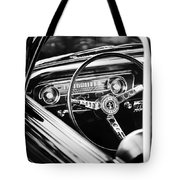 1965 Shelby Prototype Ford Mustang Steering Wheel Emblem Tote Bag