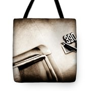 1969 Amc Amx California 500 Special Emblem Tote Bag