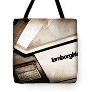 1982 Lamborghini Countach 5000s Taillight Emblem Tote Bag