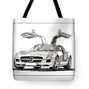 Gull Wing Mercedes Benz S L S Gull-wing Tote Bag