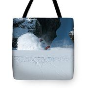 A Male Snowboarder Makes A Series Tote Bag