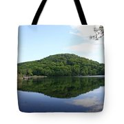 A Reflective View Of Round Pond At The United States Military Academy Tote Bag