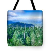 A Wide View Of The Great Smoky Mountains From The Top Of Clingma Tote Bag
