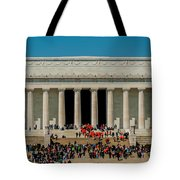 Abraham Lincoln Memorial In Washington Dc Usa Tote Bag