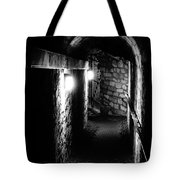 Altered Image Of The Catacomb Tunnels In Paris France Tote Bag