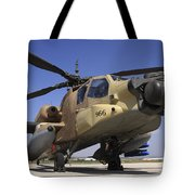 An Ah-64a Peten Attack Helicopter Tote Bag
