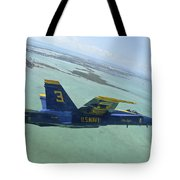 An Fa-18 Hornet Of The Blue Angels Tote Bag