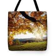 Sunset With An Abstract Twist Tote Bag