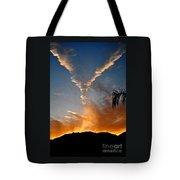 Angel Wings In The Sky Tote Bag