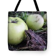 3 Apples And A Frog Tote Bag
