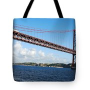 April Bridge In Lisbon Tote Bag