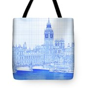 Arch Bridge Across A River, Westminster Tote Bag