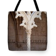 Architectural Details Of Jeronimos Monastery In Lisbon Tote Bag