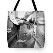 Art Arfons In Tight Squeeze Tote Bag