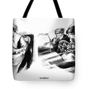 Automobile Cartoon, 1914 Tote Bag