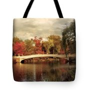 Autumn At Bow Bridge Tote Bag